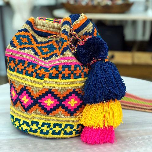Wayuu Bag (Yellow & Pink)