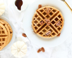You gotta try this Pumpkin Spice Power Waffle Recipe!... Oh, and they're gluten free too!