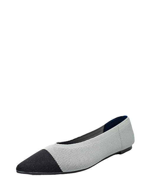 Балетки Air Point серый с черным носком