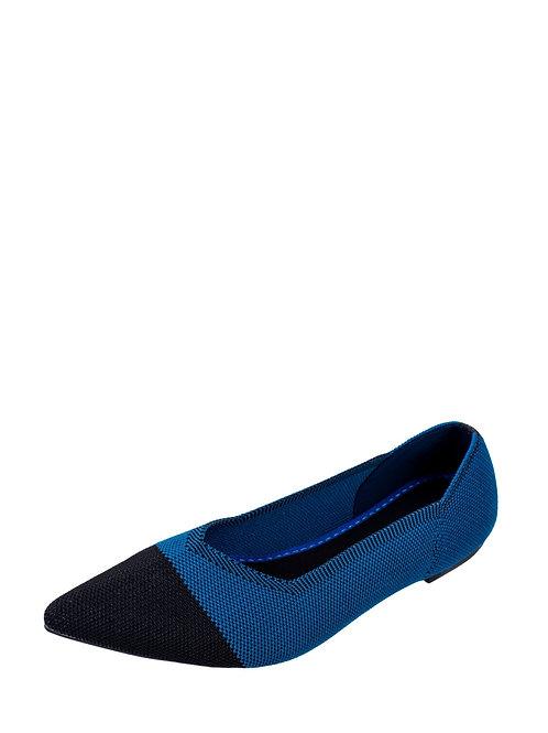 Балетки Air Point синий с черным носком