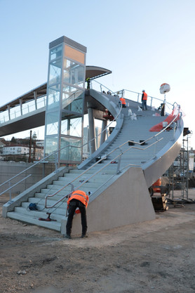 Angouleme's Gare Stairs