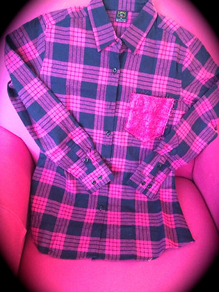 Pink Flannel with BLING