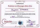 Certificat Masseur Bien-Être