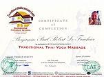 Certificat Massaeur Thaï