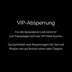 Photobooth Minden - Fotospiegel / Magic Mirror VIP-Absperrung