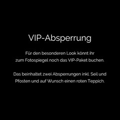 Photobooth Minden - Fotospiegel / Magic Mirror VIP-Absperrung