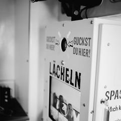 Photobooth Minden - Fotobox im Wohnwagen Fotocaravan im Hof Frien