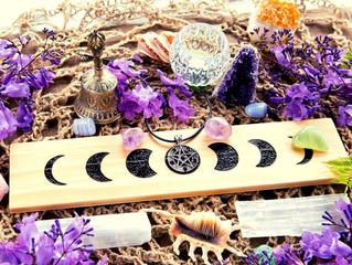 Ritual felicidad y purificación para luna llena