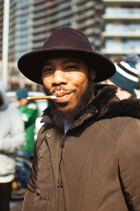 Eagles Parade Philly Portrait Philadelphia Photographer Cigar