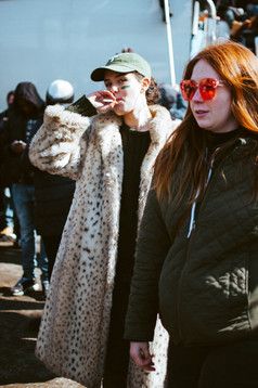 Eagles Parade Woman Smoking Street Photography