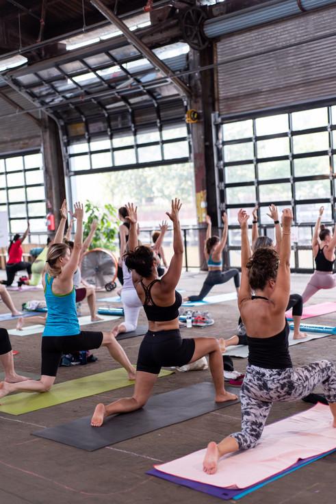 Be Well Philly Yoga Event Photographer Philadelphia Magazine Cherry Street Pier