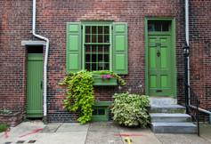 Philadelphia Doorway Green Art Print