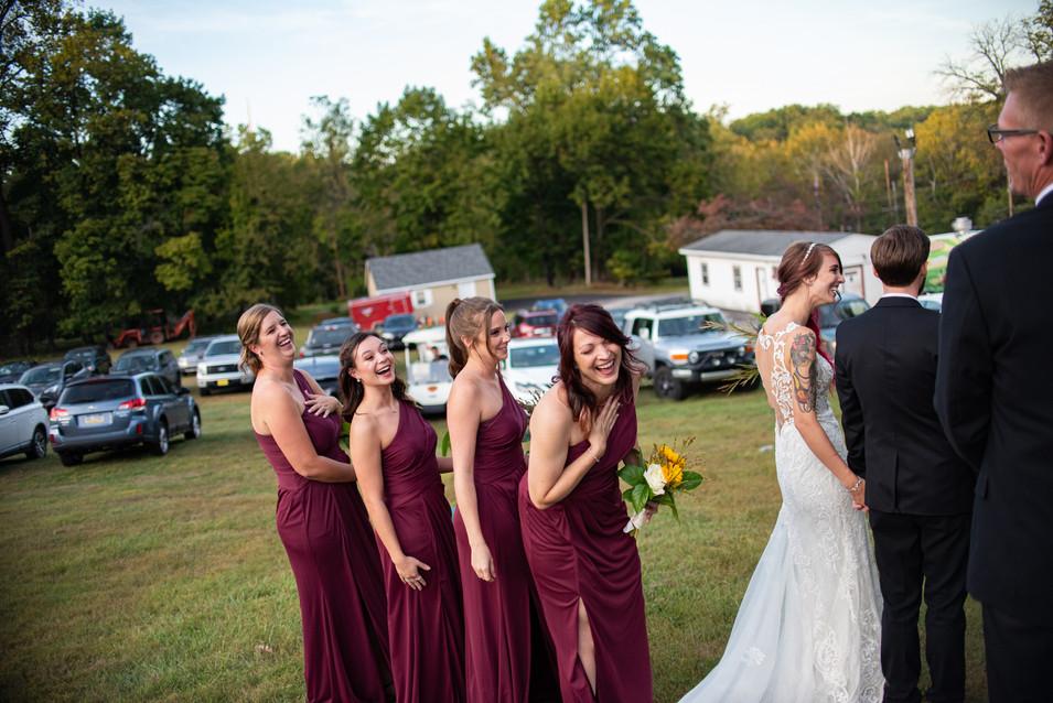 bridemaids photos small wedding pennsylvania photographer