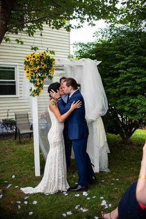 Backyard Wedding Kiss philadelphia