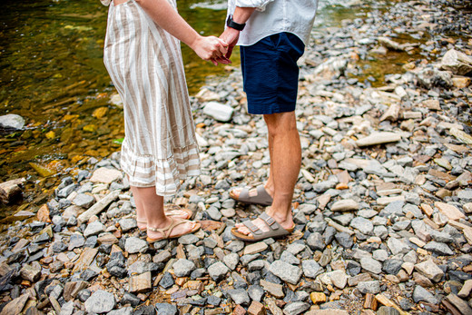 pebbles engagement session