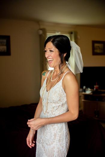 backyard wedding PA philadelphia bride