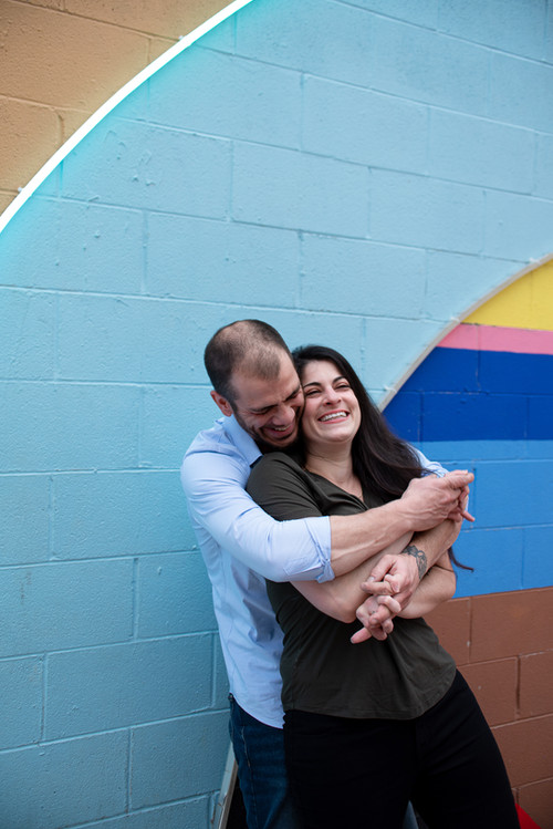 philadelphia engagement shoot murals philly photographer electric street percy street colors