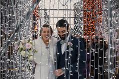 Wedding Philadelphia lights