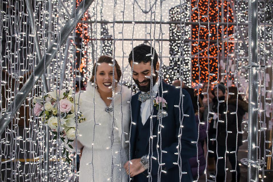 philadelphia City Hall Wedding philly photographer lights