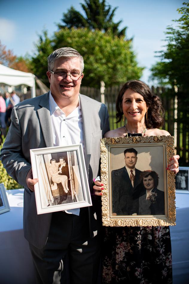 backyard wedding family photos philadelphia photographer