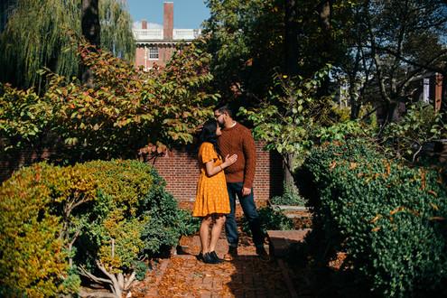 engagement shoot couple philadelphia fall autumn indian couple proposal proposal photographer