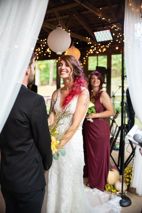 bride happy wedding day photographer philadelphia