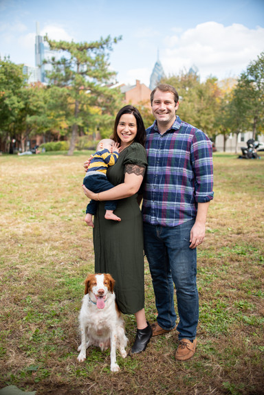 family photos fitler square philadelphia photographer dog