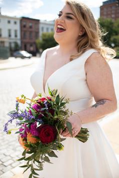 Bride Philly Photographer Happy Flowers