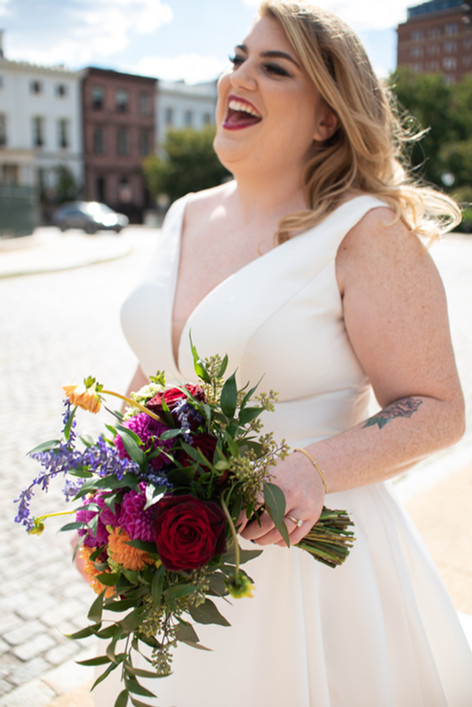 Bride Philly Photographer Happy Flowers