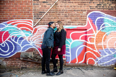 Engagement Session Baltimore Photographer Mural
