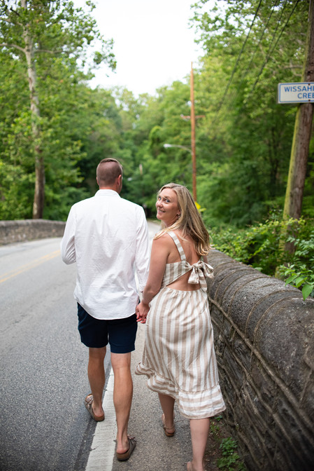 engagement shoot fairmount philadelphia Wissahickon Creek