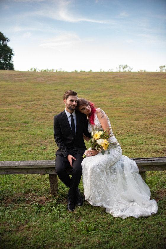 bride and groom portrait field philadelphia montgomery county