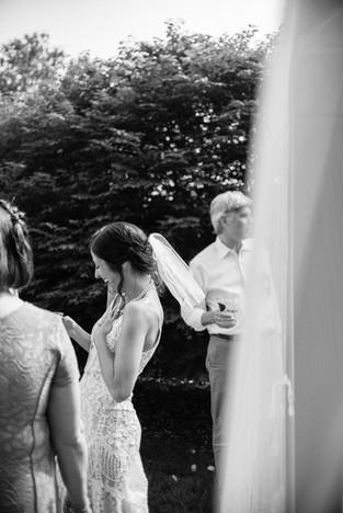 Backyard Wedding philadelphia bride