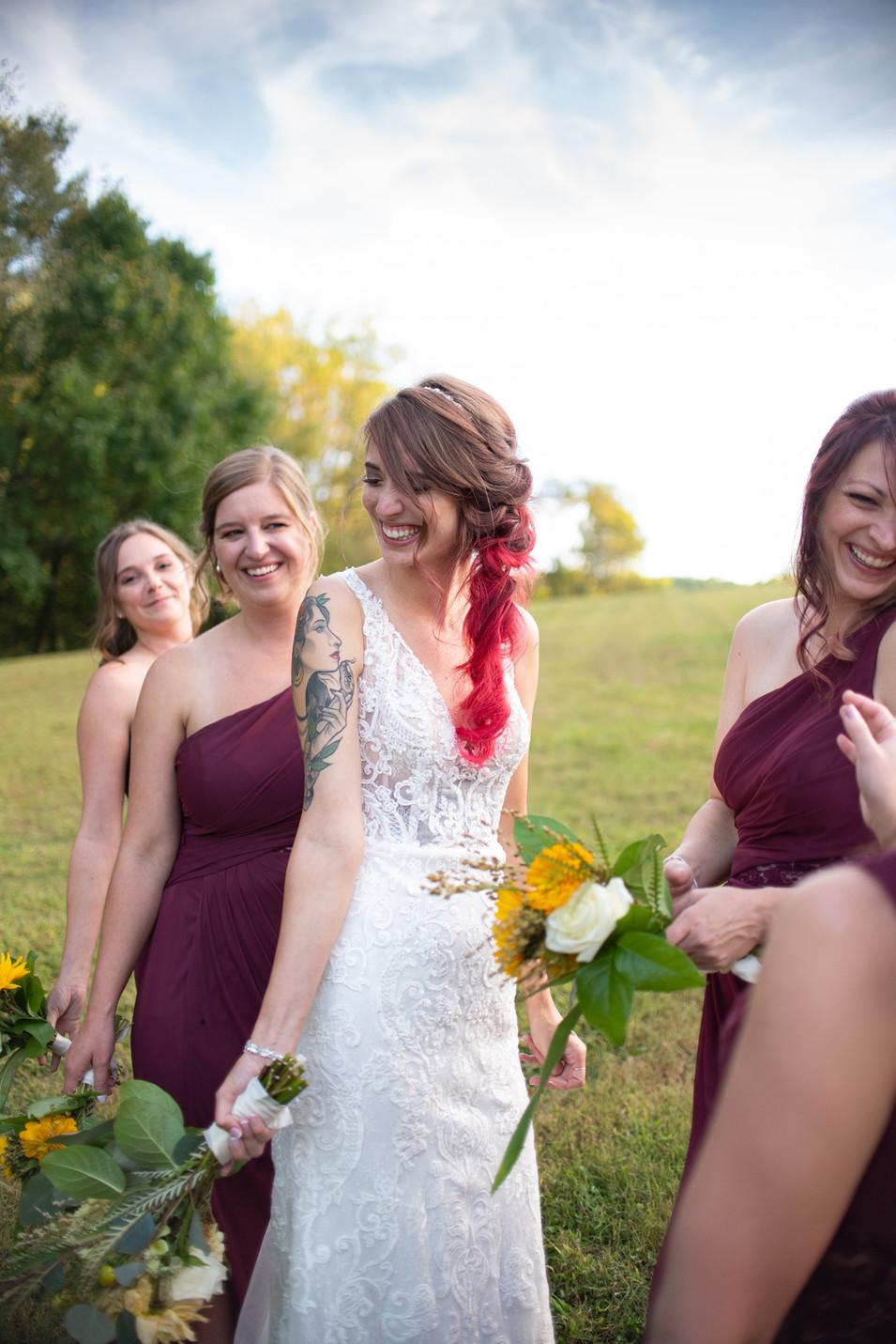 bridemaids small wedding pennsylvania