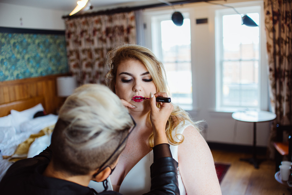 wedding photography getting ready cool girl philly philadelphia