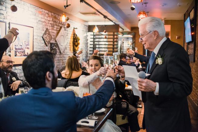 philadelphia City Hall Wedding philly photographer toast