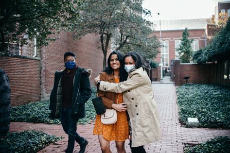 engagement shoot couple philadelphia fall autumn indian couple proposal friend
