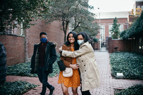 engagement shoot couple philadelphia fall autumn indian couple proposal friend