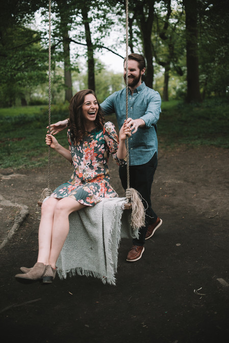 bartrams garden engagement shoot philadelphia photographer nature swing