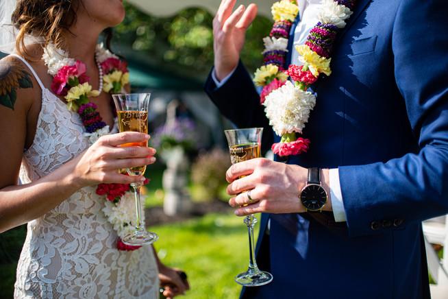 backyard wedding PA philly toast