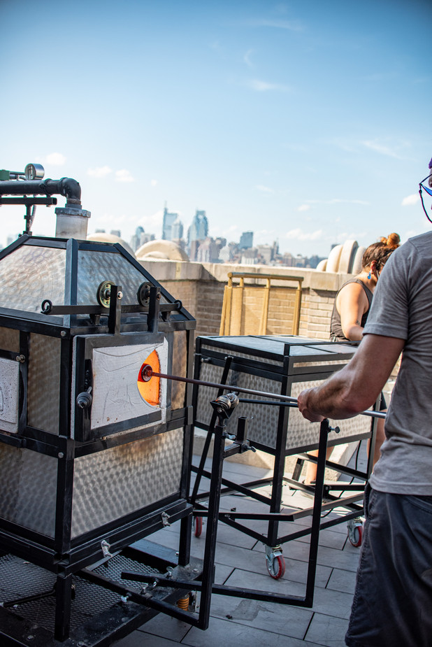 Philadelphia Event Photographer Philly Photography Remark Glass Blowing Bok Bar Rooftop