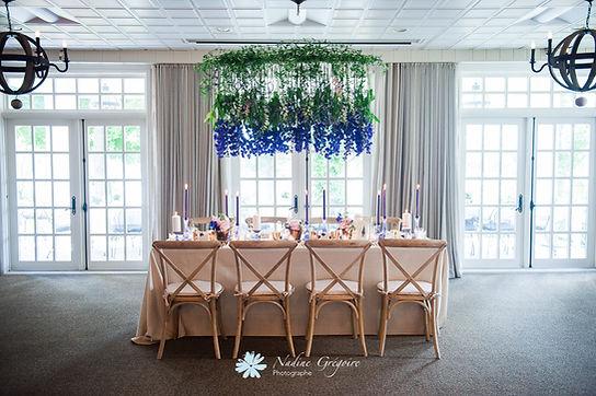 Mariage Manoir Hovey, direction artistiqu & design floral: Dominique Houle, photo: Nadine Grégoire photographe