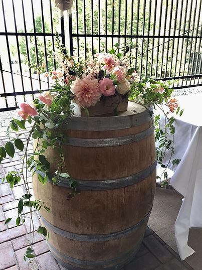 Mariage Vignoble du Ruisseau, design floral Dominique Houle,