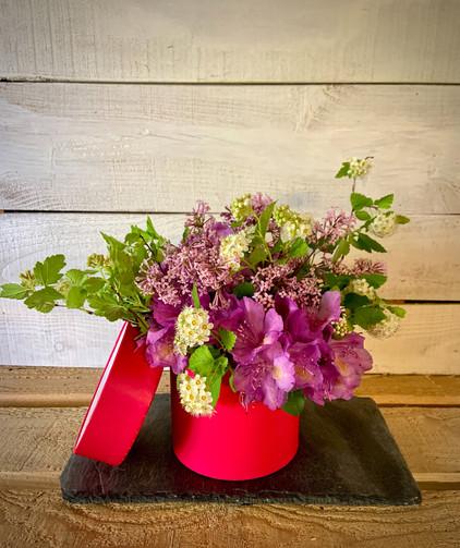 Boîte de fleurs