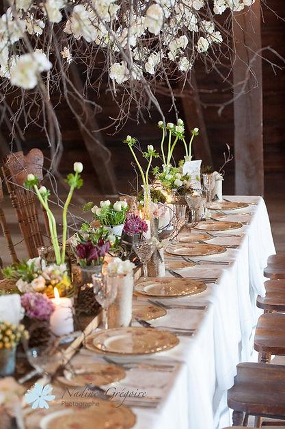 Mariage Domaine de Dunham, direction artistique et design floral: Dominique Houle, photo: Nadine Grégoire photographie.