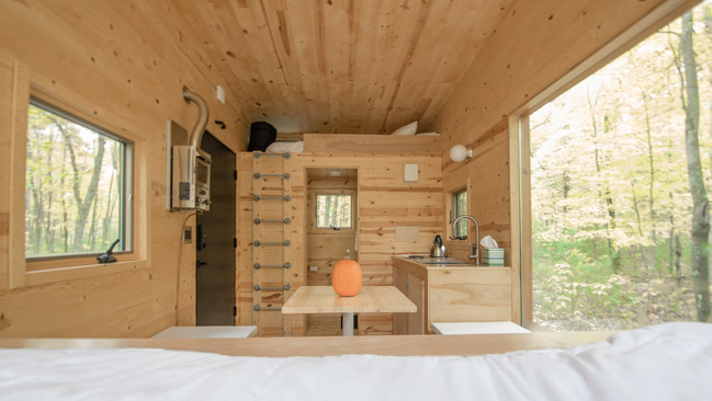 View of the cabin from the bed