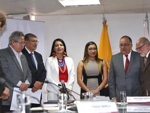 El Consejo de Participación transitorio posesiona a los cinco consejeros del CNE y al Superintendent