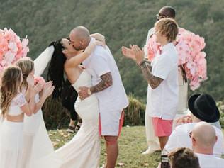 Justin Bieber y Selena Gómez fueron a la boda del padre del cantante en Jamaica