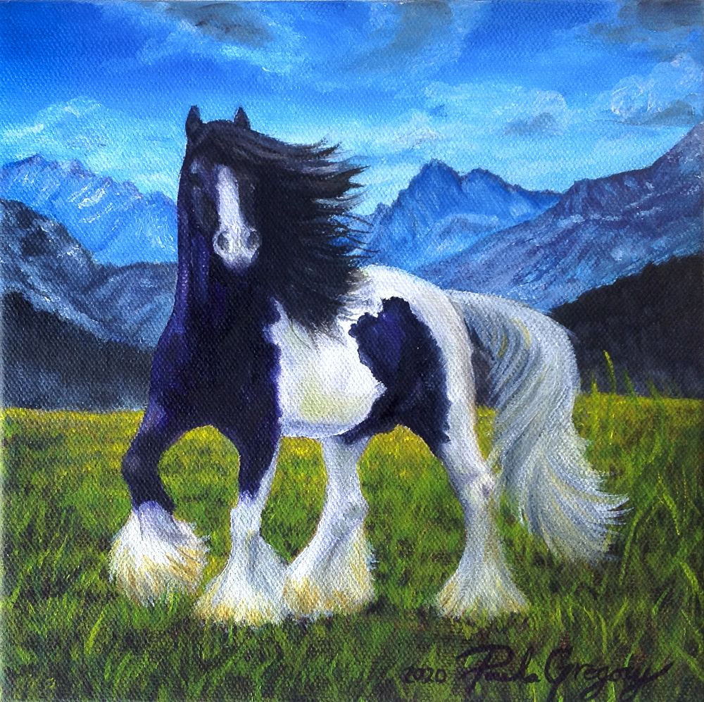 Title: Gypsy Vanner Happy Dance