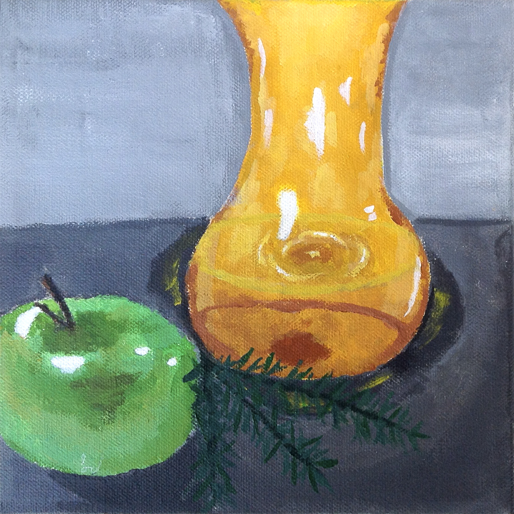 Title: Apple Still Life
